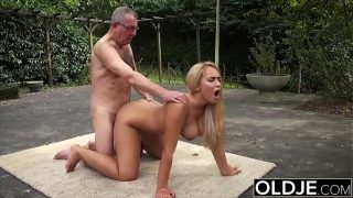 Old and Young Porn – BustyTeen Gets Wet and Sucks Grandpa