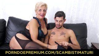SCAMBISTI MATURI – Hardcore ass fucking with Italian blonde granny Shadow